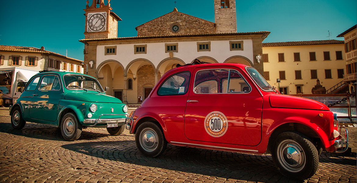 Motorcycle , vespa scooter and Fiat 500 tours in florence and tuscany