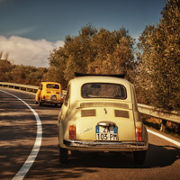 Vintage Fiat 500 tours in Florence, Tuscany