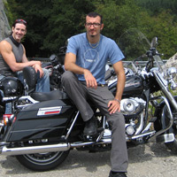 Fiat 500 and harley davidson motorcycle tours in tuscany