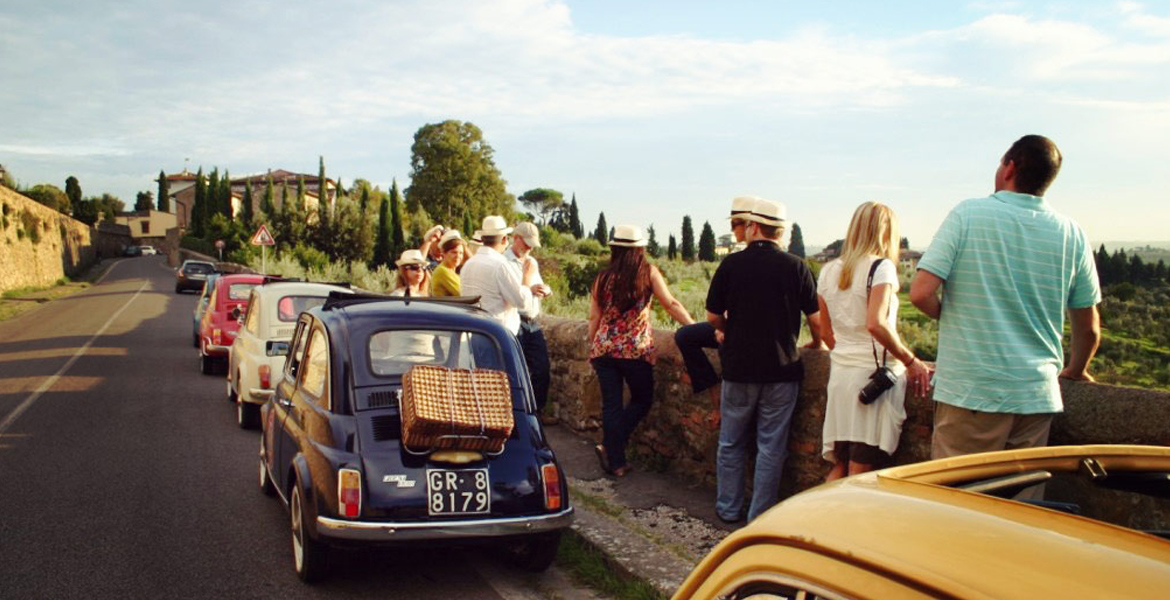 wine tasting and full lunch vintage fiat 500 and vespa tour in florence
