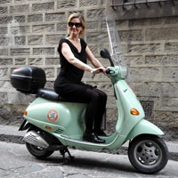 VintageVespa tour Florence: amy from our fleet 1