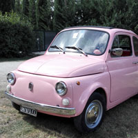 Vintage FIat 500 tour Florence: Isabella from our fleet 1