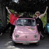 Vintage FIat 500 tour Florence: Isabella from our fleet 2