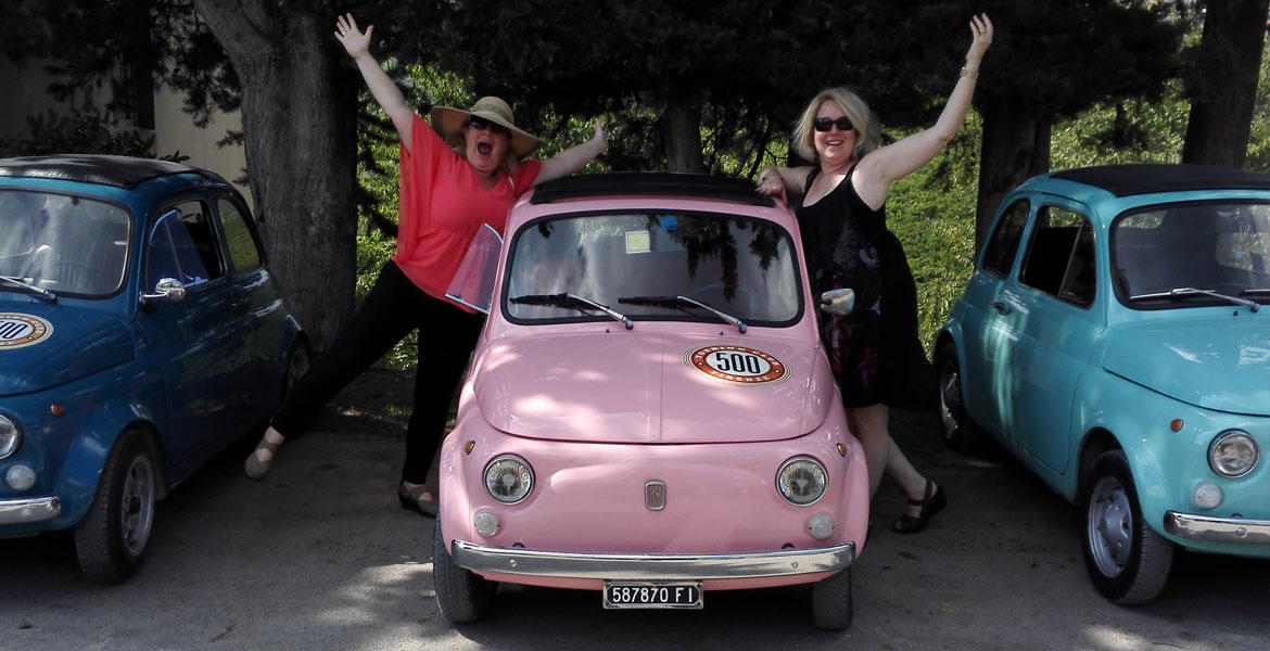 Vintage FIat 500 tour tuscany: Isabella from our fleet 2