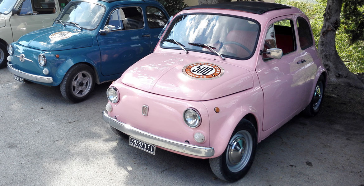 Vintage FIat 500 tour tuscany: Isabella from our fleet 3