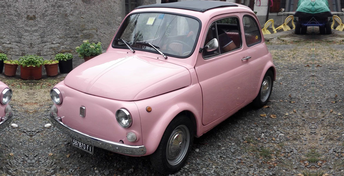 Vintage FIat 500 tour tuscany: Isabella from our fleet 4