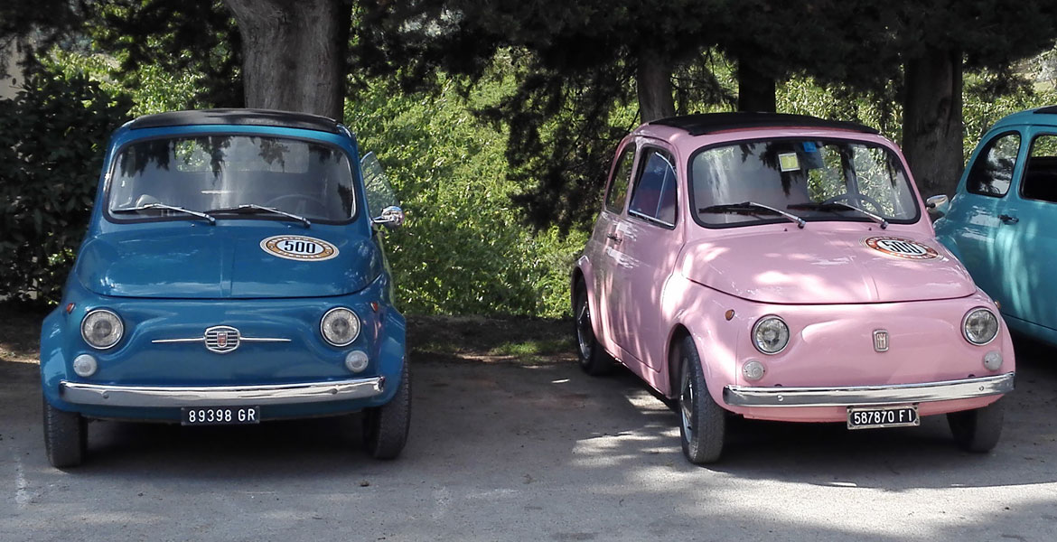 Vintage FIat 500 tour tuscany: Isabella from our fleet 6