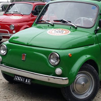Fiat 500 and Vespa scooter hire, our fleet: Olivia 5