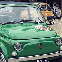Fiat 500 and Vespa scooter hire, our fleet: Olivia 6