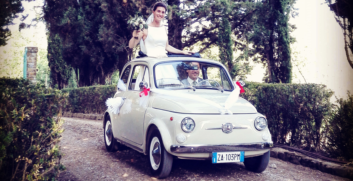 FIat 500, vespa scooter tour in tuscany: Topsy from our fleet 1