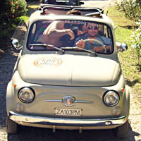 FIat 500, vespa scooter tour in tuscany: Topsy from our fleet 5