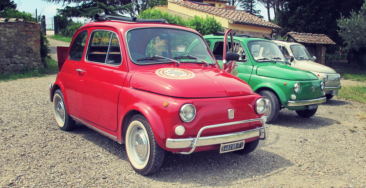 Fiat 500 in tour in Florence