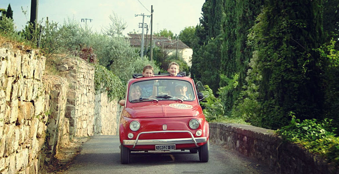 Fiat 500 tours in tuscany
